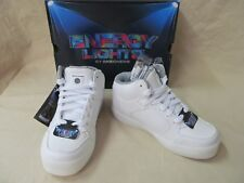 Youth Skechers Unisex 13.5 M White S-Lights® Energy Lights Hi-Top Lace Sneakers