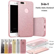 3 in 1 Bling Glitter Gel Silicona TPU Funda Carcasa Case para Iphone 6 6s 7 Plus