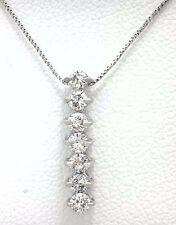 GENUINE 0.35 Carats DIAMONDS BAR 14k White Gold NECKLACE Msrp $1,000.00
