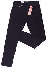 Genuine LEVIS Mens 502 Regular Taper Fit Nightshine BLACK Denim Jeans 32x30
