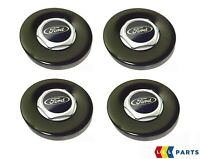 NEW GENUINE FORD FIESTA ST500 PANTHER BLACK ALLOW WHEEL CENTER CAP COVER 4PCS