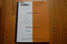ALTEC AA AN SERIES Bucket Truck Crane Owner Operator Operation Safety Manual