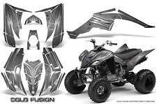 YAMAHA RAPTOR 350 GRAPHICS KIT CREATORX DECALS STICKERS COLD FUSION SILVER