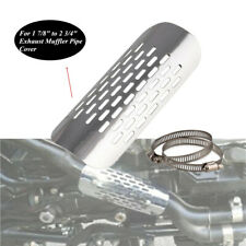 "Chrome Motorcycle Heat Shield Durable 1 7/8""to2 3/4""Exhaust Muffler Pipe Cover"