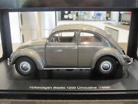 1:18 AUTOART 79777 1955 VOLKSWAGEN VW BEETLE 1200 LIMOUSINE POLARIS SILVER *NEW*