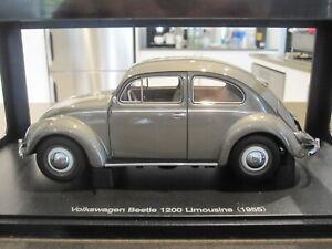 1:18 AUTOART 79777 1955 VOLKSWAGEN VW BEETLE 1200 POLARIS SILVER *NEW*