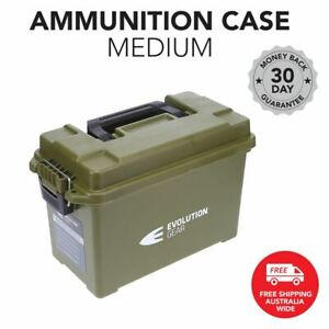 Medium Ammunition Case Weatherproof Ammo Dry Box Hunting Sealed - Olive Drab
