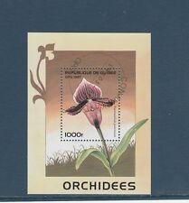 Guinée république  bloc   flore  fleur orchidée   1997  num : 118  oblitéré