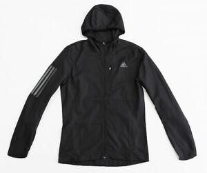 NWT ADIDAS Men's Own The Run Black Track Running Gym Windbreaker Hoodie Jacket