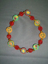 HANDMADE Thanksgiving/Fall Beaded Stretch Bracelet - Fimo Leaf Beads - NEW