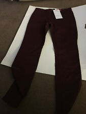 NWT Nineteen 91 CottonON Maroon Jegging Size 6 - skinny Fit Mid Rise