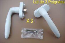 Lot de 3 Poignées,HOPPE, Aluminium Plastifié Blanc, Fenêtre (Dimensions Photo 2)