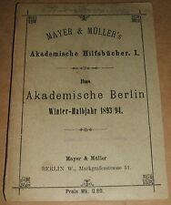 1893 German Book Catalog from Mayer & Muller Berlin with vintage advertisements