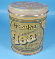 Ballonoff Tin Canister Golden Leaf Tea 1979