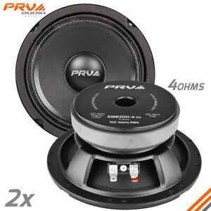"""2x PRV Audio 6MB200-4 Midbass Car Audio 6.5"""" Speakers 4 Ohm 6MB PRO 400 Watts"""