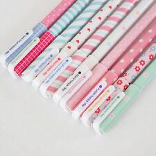 New 10pcs/Lot 0.38mm Pen Colorful Office School Accessories Gel Pens Cute Good
