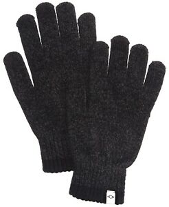 Alfani Men's Winter Gloves Charcoal Gray One Size Space Dye Ribbed $32 #658