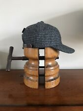 Stetson Houndstooth Baseball Dad Cap Tweed Charcoal Leather Strap 58cm Japan Hat