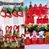 Christmas Socks Tableware Ornaments Snowman Holiday Party Home Decor Santa Xmas