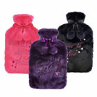 2 L Novelty Cosy Hot Water Bottle with Fleece Cover Christmas Gift Therapies