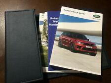 2018 2019 Land Rover Range Rover Sport Owners Manual Set With Case