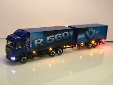 Herpa Umbau Modell LED Beleuchtung Scania R560 V8 Highline Tandem Koffer HZ