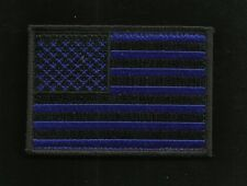 BLUE LIVES MATTER TACTICAL COMBAT AMERICAN FLAG BIKER MORALE PATCH