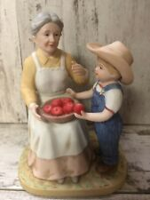 New ListingHomco Home Interiors Denim Days Figurine Helping Grandma W/tag