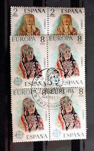1974-ESPAÑA EUROPA Bloq. de 4 Ed. 2177/78 Matasellos BAZA Primer Día 4/5/1974