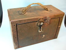 Vintage WWll ARMY M17 50 Cal AMMO AMMUNITION CHEST CAN w/ CANVAS STRAP HANDLE