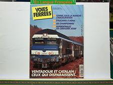 Revue VOIES FERREES 084 Inauguration Tunnel Manche Détaillez Céréaliers JOUEF