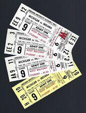 1978-79 NCAA MICHIGAN WOLVERINES @ INDIANA HOOSIERS FULL BASKETBALL TICKETS (4)