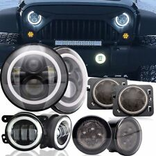 LED Headlights + Fog Light +Turn sigal Combo Kit For Jeep Wrangler JK 2007-2017
