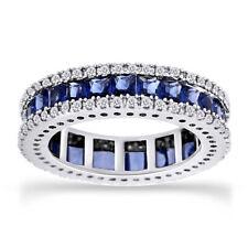 Имитация сапфир и Топаз вечность обручальное кольцо 10K золото 4 кар ремешок для женских
