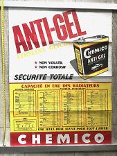 ANCIENNE AFFICHE PUBLICITAIRE BIDON HUILE ANTI GEL CHEMICO