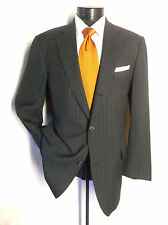"Brooks Brothers Gray striped suit Size 41L 3 Button  pants W 36""/33  ""L"