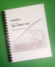 LASER 8.5X11 Olympus VG-190 D-780 Camera 78 Page Owners Manual Guide