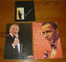lot of 3 Vintage Frank Sinatra Concert Program Books, 1976, 1978, + undated 1970