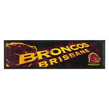 BRISBANE BRONCOS NRL Bar Runner Mat for Man Cave Snooker Pool Room Birthday Gift