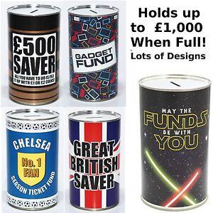 Large Savings Tin - £500 Saver Fund, Keep Calm Fund - Novelty Money Saving Tins