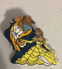 Disney's Beauty And The Beast Mask Pin 2020 Fantasy Pin With Belle Beast Dancing