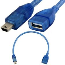 25 cm 5 Pin Mini USB B Male to USB A 2.0 Female Extension Cable