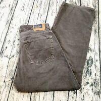 Mavi Mens Corduroy Pants Size 30/30 170 Max Gray Wide Full Zip Fly Casual Euc
