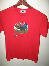 Giorgio Armani Exchange AX Italian Designer Bottle Cap Logo Red T Shirt Small