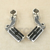"""Chrome 1-1/4"""" Universal Highway Short Mount Foot Peg Footpegs For Harley Touring"""