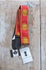 Levys 2 Inch Sun Design Jacquard Weave Guitar Strap - Red
