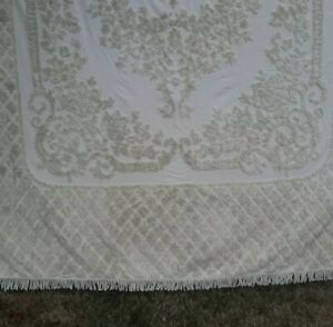 LaMont Home Josephine Collection Chenille Bedspread and shams sage green