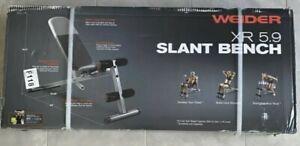 Weider XR 5.9 Adjustable Slant Workout Bench Newest Version 4leg roll Fast Ship