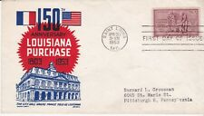 First day cover, Sc #1020, Louisiana Purchase, Mellone 6, Cachetcraft/Boll, 1953