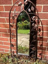 Enchanted garden Mirror Vintage Antique shabby Home Outdoor Wall Art large arch